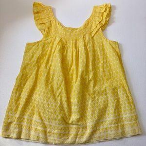 Elle Yellow sleeveless tunic sleeveless top m